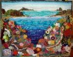 Coral Isle-1m x 1m Freeform Crochet Mural