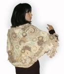 Soft Toffee Freeform Crochet Shrug