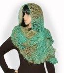 Cascade - crochet lace wrap