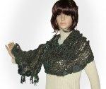 Maple Ash Freeform Crochet Knit Wrap