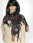 Floral Graphite scarf