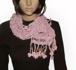 Pink no pattern scarf
