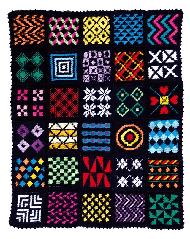 Geometric Crochet Afghan Pattern : Crochet Techniques content Renate Kirkpatricks Freeform ...
