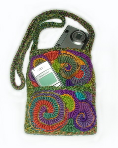 Carry safe - Freeform crochet camers/phone case 1