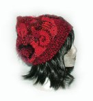 Ruby-freeform crochet beanie