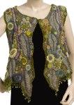 Crystal Grove  Freeform Crochet Vest