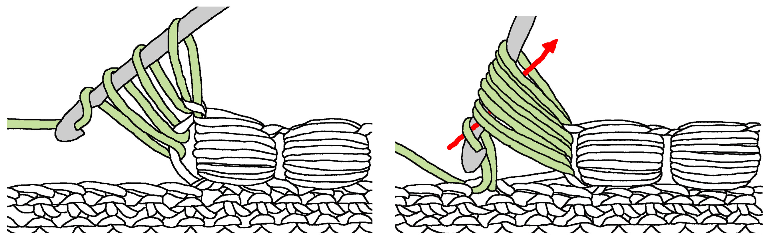 Crochet Stitches Decorative : ... side. Use them to add texture to your work or as decorative edging