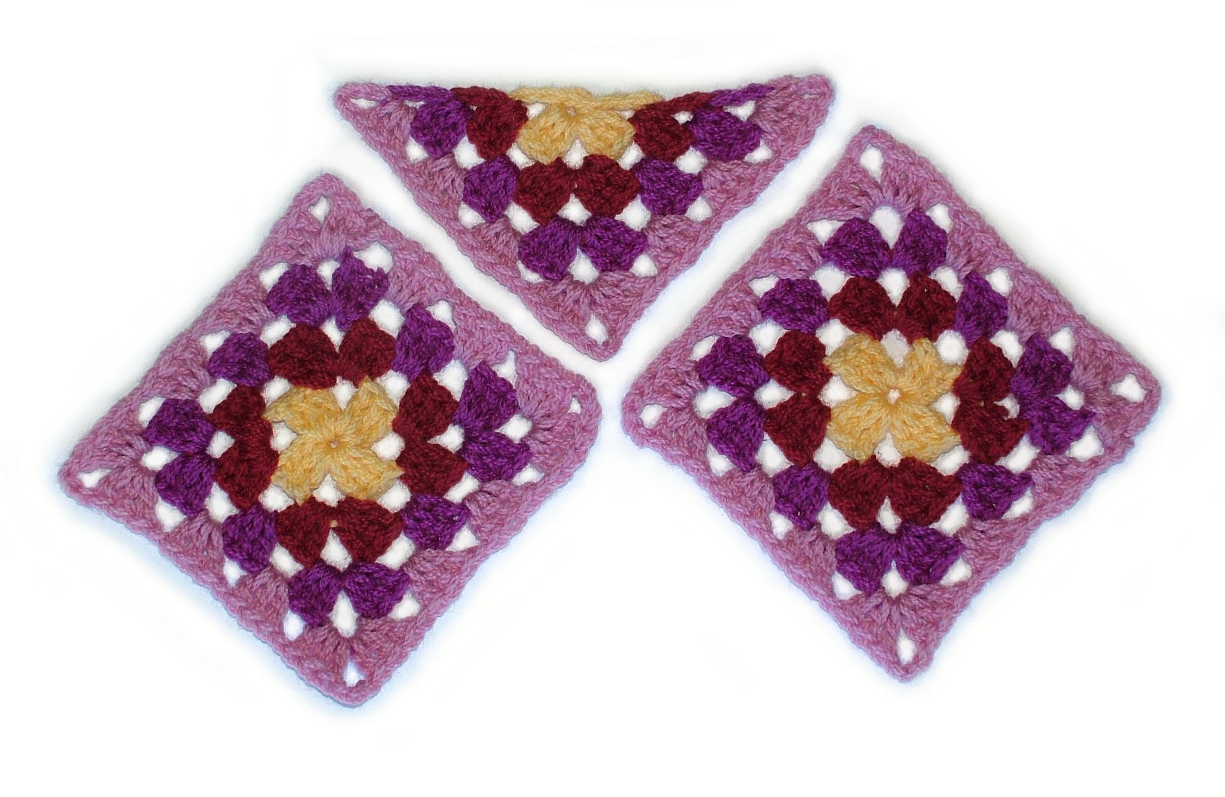 The Half Granny Square. | Renate Kirkpatrick\'s Freeform Crochet~Knit ...