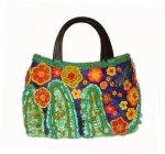 floral crayons freeform handbag