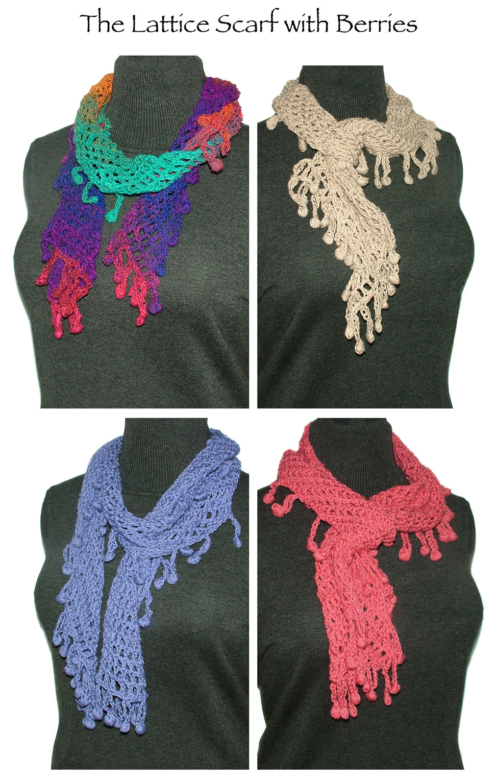 The lattice scarf with berries crochet pattern renate the lattice scarf with berries is a fabulous super easy crochet pattern bankloansurffo Image collections