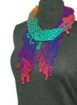 Lattice Scarf with Berries - Rainbow