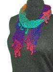Lattice Scarf with Berries - Rainbow
