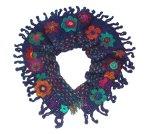 Floral Plum Crochet Scarf