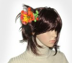 Felted Flower Hair Comb
