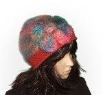 Big Flower Crochet Felt Beanie