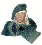 Janice - Beret & Scarf with pockets