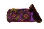 Purple Pocket Glasses Case