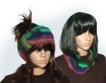 Rainbow Noro Headband Cowl