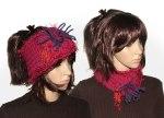 Red Poppy Headband Ear warmer