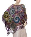 Spiral Web Freeform Crochet Poncho