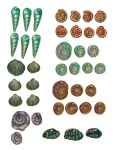 Polymer Shell Beads - mixed bag 1
