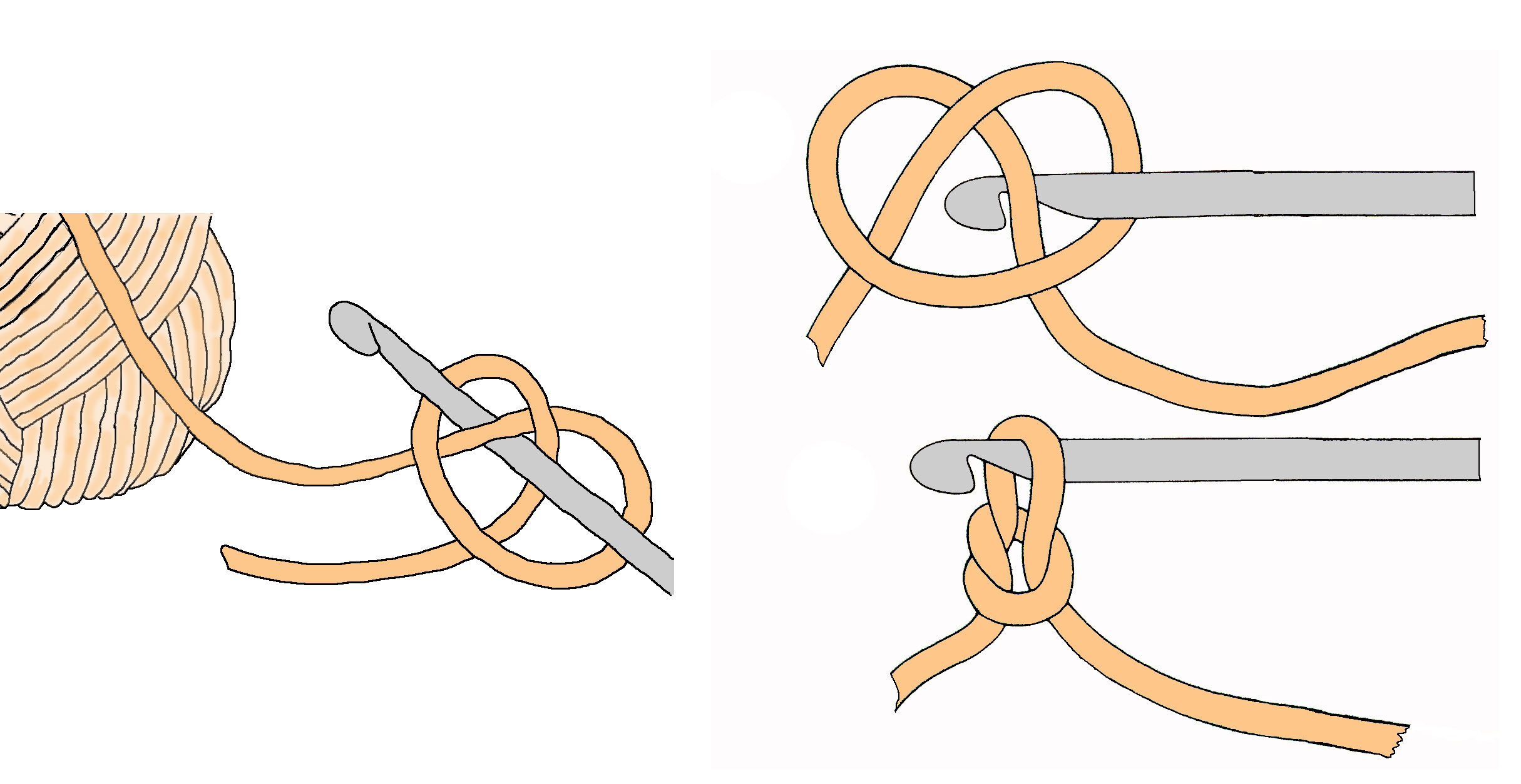 Crochet Slip Knot : ... hook the slip knot loop is not counted as a chain the loop on the
