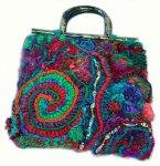 Spirals Freeform Handbag