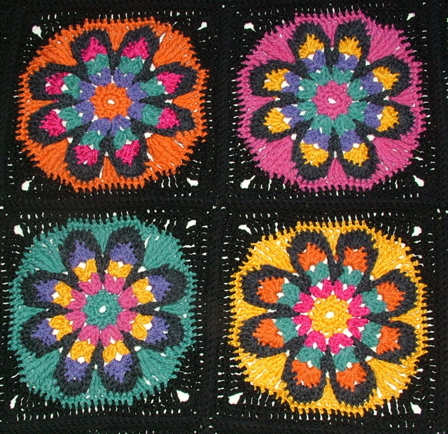 The Big Flower Afghan A Crochet Pattern Renate Kirkpatricks
