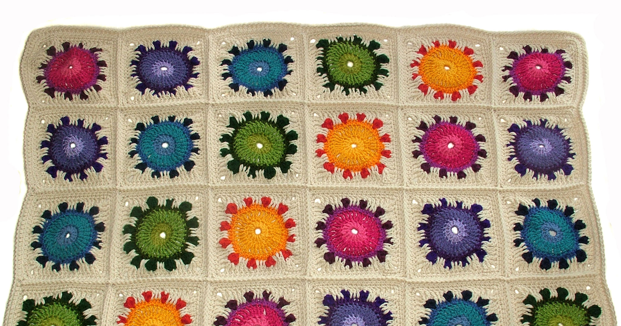 Sunflower Happiness ? a crochet rug (afghan) pattern ...