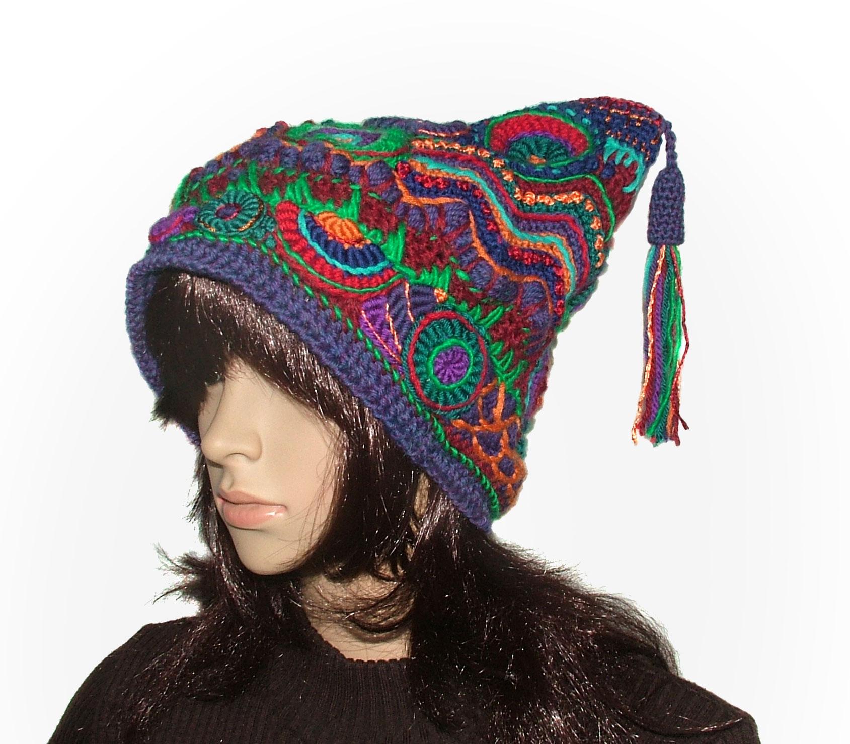 Freeform Crochet Jester Hat Beanie…  48bd5c14883