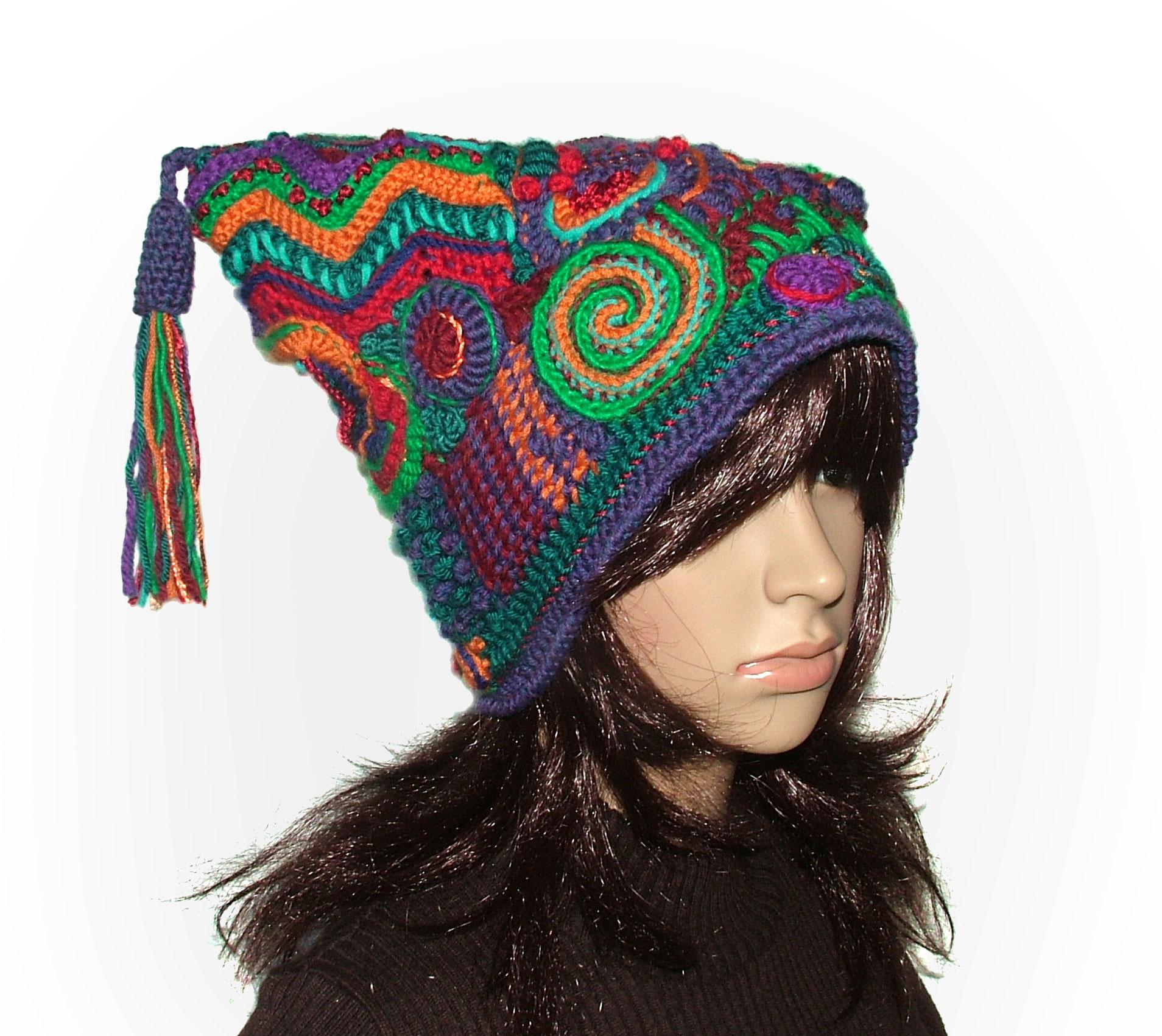 Freeform Crochet Jester Hat Beanie? Renate Kirkpatricks ...