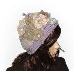 Crochet felt flowers