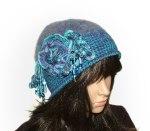 Blue crochet felt