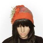 Orange crochet felt