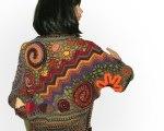 Freeform Crochet Noro shrug