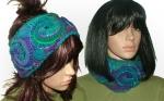 blue purple cowl headband
