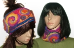 rainbow headband cowl