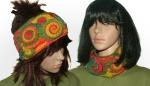 Rainbow  headband/cowl 2