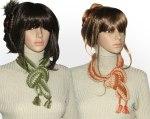 green-orange-chain scarves