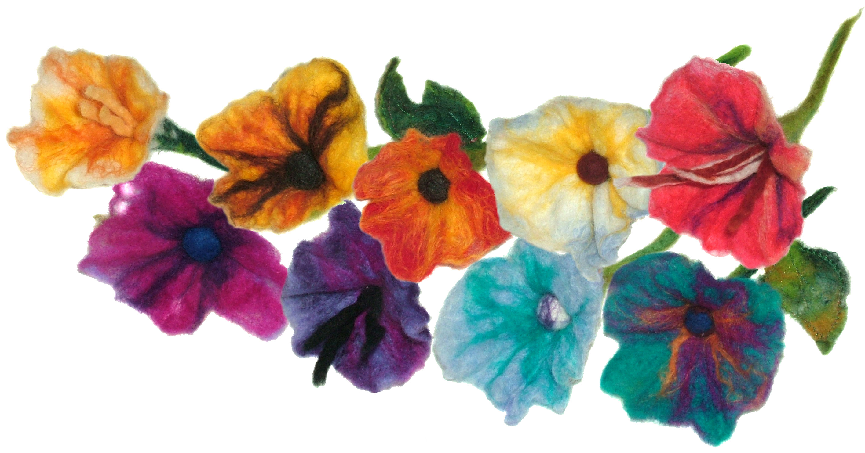 Wet Felt Flowers Pattern Tutorial…