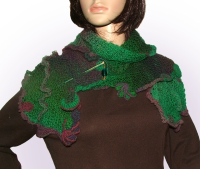 Fern green freestyle knit