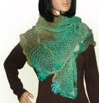 Freestyle shawl turquoise