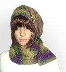 multi beanie scarf set