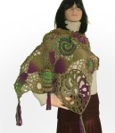 Freeform shawl purple olive