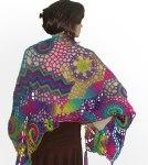 Freeform shawl purple pink