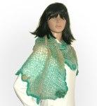 Turquoise freestyle shawl