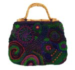 Freeform bag, maroon, purple green
