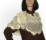 Le Creme Freeform knit shawl