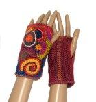 Short Freeform Fingerless Gloves