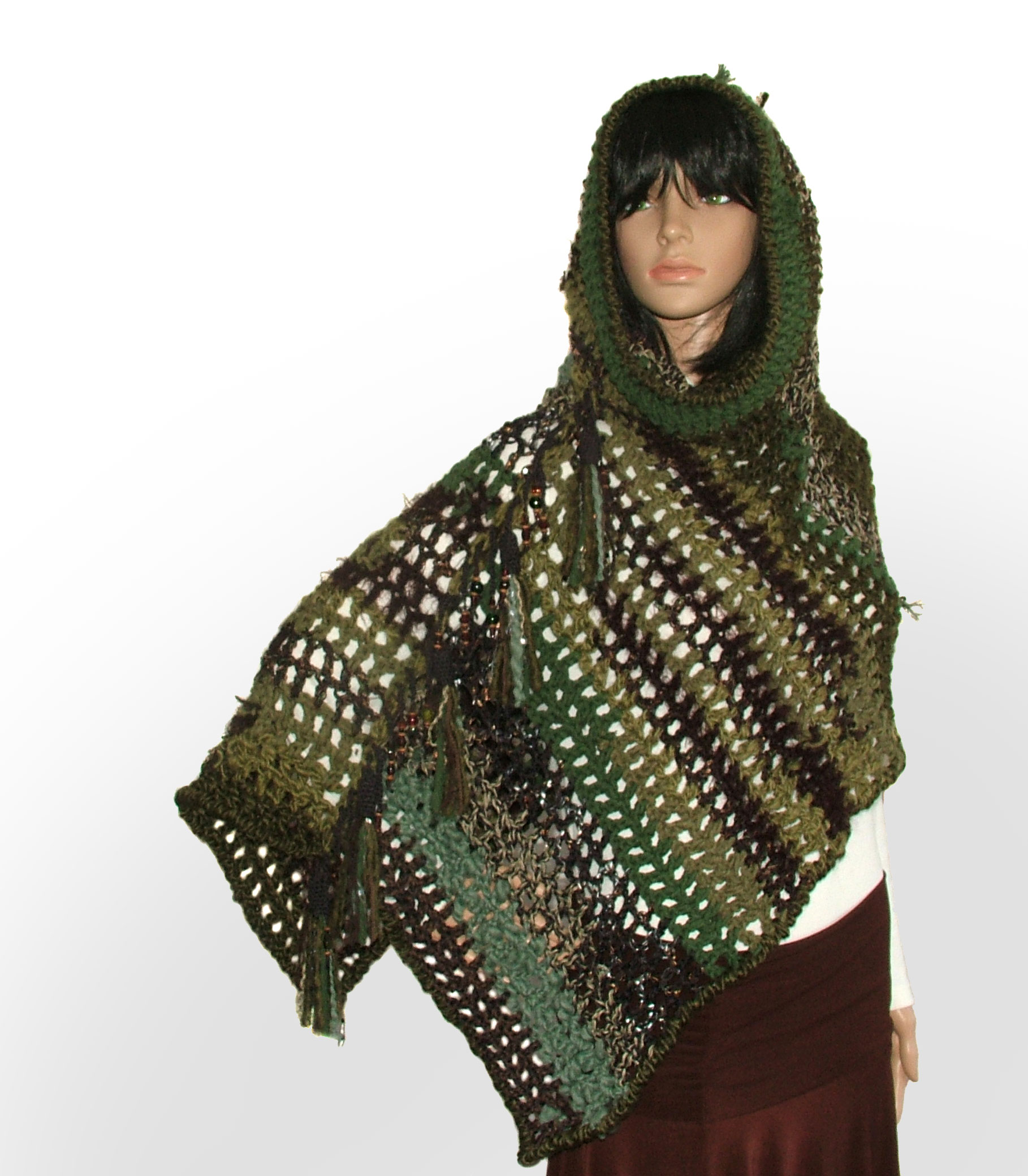 Garments scarves wraps archive renate kirkpatricks freeform hooded poncho bankloansurffo Image collections